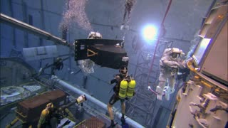 Astronauts Training To Repair Module