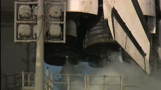 Atlantis Engines Lifting Off