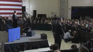 Audience Clapping For President Obama