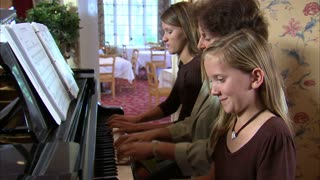 Aunt and Nieces Playing Piano 5