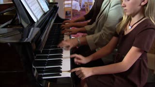 Aunt and Nieces Playing Piano 9