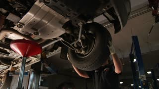 Auto Mechanic Rotating Tires, Chaning Oil