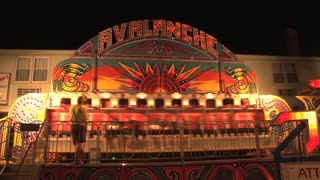 Avalanche Carnival Ride on Ocean City Maryland Boardwalk