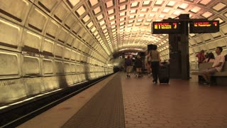 Awaiting Train at DC Metro Station