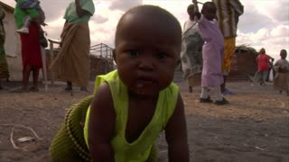 Baby Crawling Towards Camera in Kenya