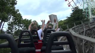 Back of Riders on Roller Coaster