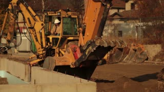 Backhoe And Excavator Working