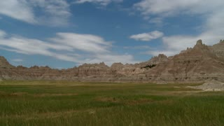 Badland Mountain and Cloud Timelapse 3