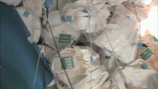 Bags of Supplies on Space Station