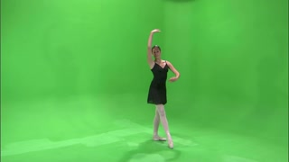 Ballerina Dancing on Greenscreen 10