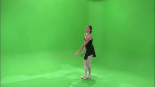 Ballerina Dancing on Greenscreen 11