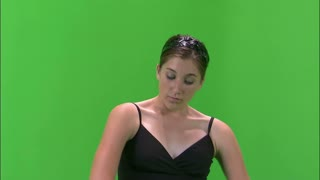 Ballerina Dancing on Greenscreen 2