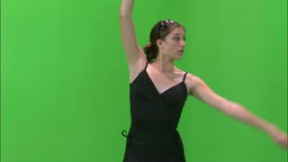 Ballerina Dancing on Greenscreen 3