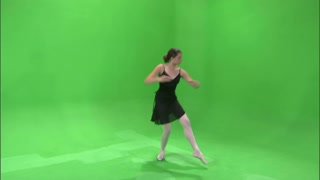 Ballerina Dancing on Greenscreen 4