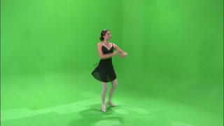Ballerina Dancing on Greenscreen 5
