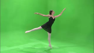 Ballerina Dancing on Greenscreen 7