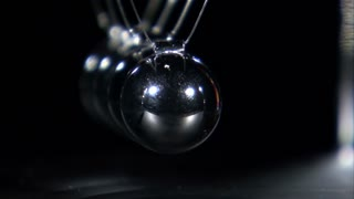 Balls in Newtons Cradle Hitting Each Other