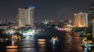 Bangkok Thailand At Night Time Lapse