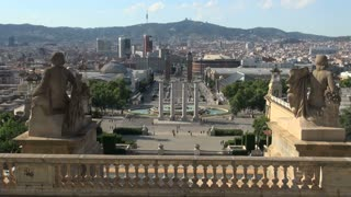Barcelona View from Palau Nacional (National Palace) 2