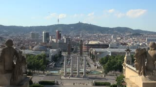 Barcelona View from Palau Nacional (National Palace)
