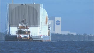 Barge Heading Toward NASA