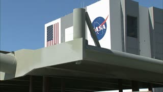 Barge Passing the NASA Building