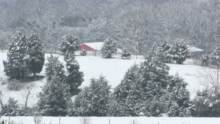 Barn Nestled in Snowy Landscape 2
