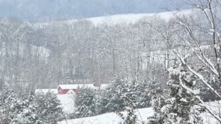 Barn Nestled in Snowy Landscape 3