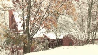 Barn Snowfall