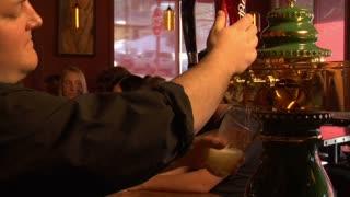 Bartender Pours Beer
