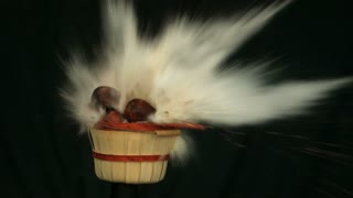 Basket Of Apples Exploding