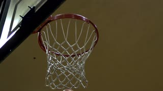 Basketball Shot in Slow Motion from Under Hoop 2