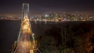 Bay Bridge San Francisco Time Lapse