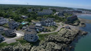 Beach Home Aerial In Boston