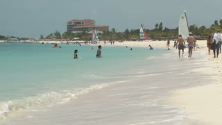 Beach Scene on Turks and Caicos Islands 3