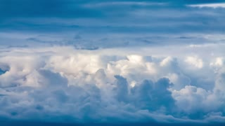 Beautiful clouds in motion timelapse