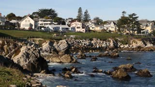 Beautiful Homes Near Rocky Shoreline