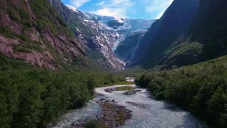 Beautiful Nature Norway Glacier Kjenndalsbreen.