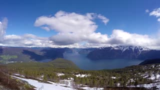 Beautiful Nature Norway HD Timelapse. The Sognefjorden.