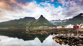 Beautiful Nature Norway natural landscape timelapse.