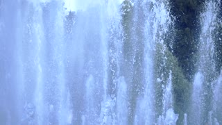 Beautiful park fountain, super slow motion shot, 240 fps