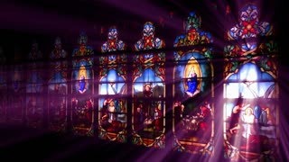 Beautiful Stained Glass Wall