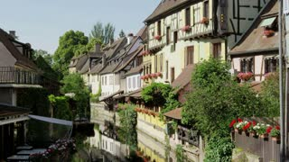Beautiful View Along Colmar, France Canal