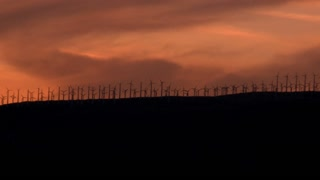 Beautiful Windmills In Sunset