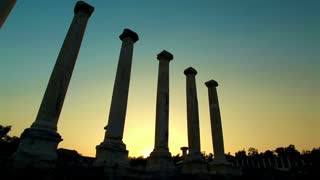 Beit Shean Ruins and Columns Silhouette 2