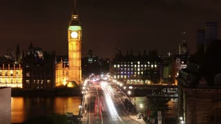 Big Ben Across Westminster Bridge at Night