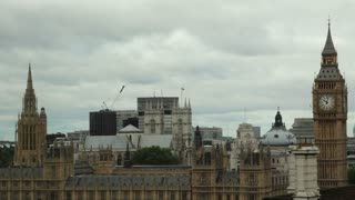 Big Ben and Parliament Dreary Day Timelapse