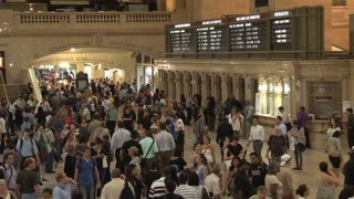 Big Crowd at Grand Central Station