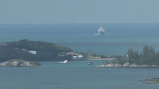 Big Cruise Ship Heading Towards Bermuda
