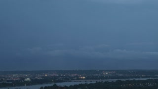 Big lightning strike over DC
